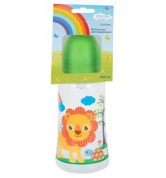Бутылочка Ням-Ням с широким горлышком пластик с 6 месяцев, 360 мл, цвет: салатовый