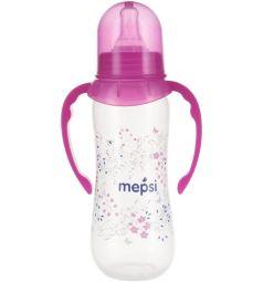 Бутылочка Mepsi С ручками полипропилен с 4 месяцев, 250 мл, цвет: малиновый