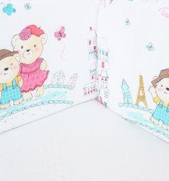 Бортик в кроватку Leader Kids Париж, цвет: белый