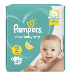 Подгузники Pampers New Baby-Dry (4-8 кг) 27 шт.