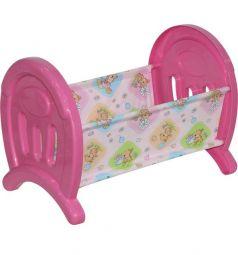 Сборная кроватка для куклы розовая Полесье