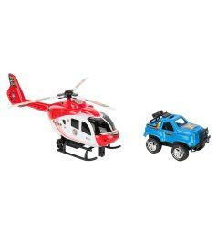 Игровой набор Игруша Транспорт Вертолет с синей машинкой