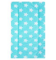 Leader Kids Комплект в коляску Белые звезды Матрас/Подушка 2 предмета, цвет: бирюзовый