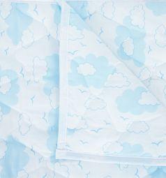 Споки ноки Одеяло Облака 105 х 140 см, цвет: голубой/белый