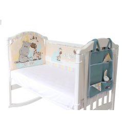 Бортик в кроватку Baby Nice Лучшие друзья, цвет: бежевый