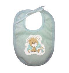 Baby Nice Комплект наматрасник/слюнявчик 60 х 120 см, цвет: голубой