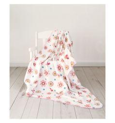 Споки ноки Плед Цветы 100 х 140 см, цвет: розовый