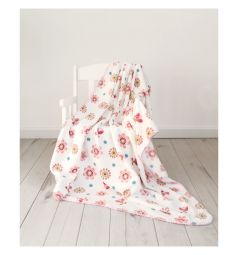 Споки ноки Плед Цветы 100 х 118 см, цвет: розовый