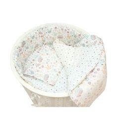 Бортик в кроватку Baby Nice Лесная поляна, цвет: бежевый