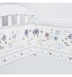 Бортик в кроватку Baby Nice Ежик, цвет: белый