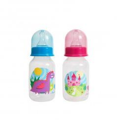 Бутылочка Пома Мечта полипропилен с рождения, 125 мл, цвет: розовый
