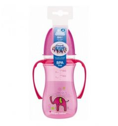 Поильник-непроливайка Canpol Sweet fun, цвет: розовый
