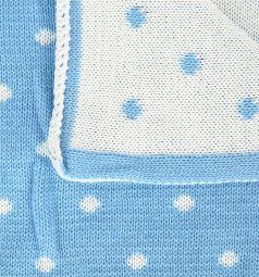 Baby Street Плед, цвет: белый/голубой