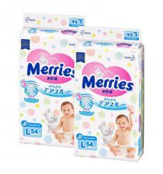 Подгузники Merries L (9-14 кг) 108 шт.