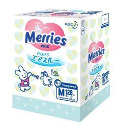 Подгузники Merries M (6-11 кг) 128 шт.
