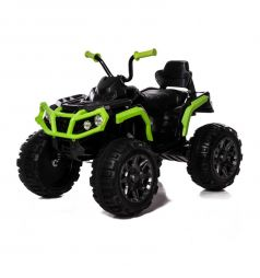 Электромобиль Jetem Grizzly, цвет: зеленый/серый