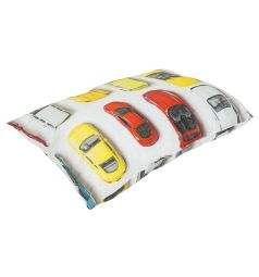 Подушка Зайка Моя Машинки 40 х 60 см, цвет: белый