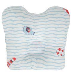 Подушка Зайка Моя Мишка на море, цвет: голубой