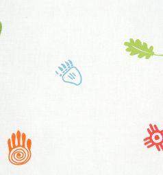 Подушка Зайка Моя Листочки 40 х 60 см, цвет: белый