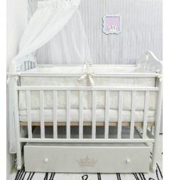 Кроватка для новорожденных By Twinz Версаль, цвет: белый