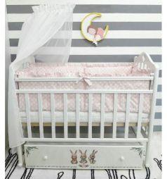 Кровать By Twinz Зайки, цвет: белый