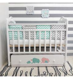 Кровать By Twinz Мэри, цвет: бирюза/розовый