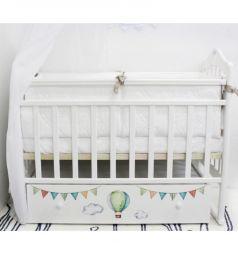 Кровать By Twinz Путешествие на шаре, цвет: белый
