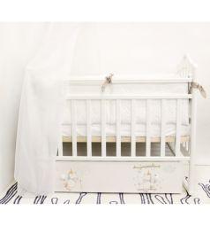 Кровать By Twinz Радужные единороги, цвет: белый