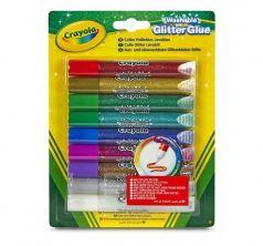 Клей с блёстками Crayola 9 цв.