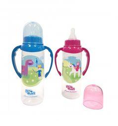 Бутылочка Пома Мечта С ручками пластик с 6 месяцев, 250 мл, цвет: розовый