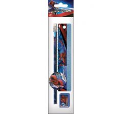 Набор канцелярский Disney Человек-паук (карандаш ластик линейка точилка)