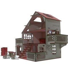 Кукольный домик Iwoodplay Деревянный со светом 85 см