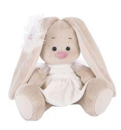 Мягкая игрушка Budi Basa Зайка Ми в белом платье с голубем 15 см