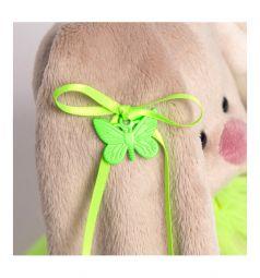 Мягкая игрушка Зайка Ми Малыши в ярко-зеленой юбочке фонарик 15 см
