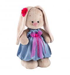 Мягкая игрушка Budi Basa Зайка Ми в синем платье с розовым бантиком 32 см