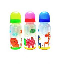 Бутылочка Бусинка для кормления пластик с рождения, 250 мл, цвет: синий