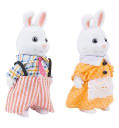 Игровой набор Mimi Stories Семья белых кроликов, 2 фигурки