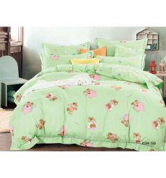 Комплект постельного белья Cleo Игрушки 3 предмета, цвет: зеленый