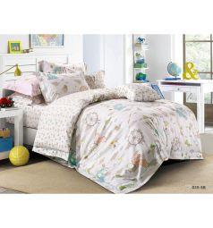 Комплект постельного белья Cleo Игрушки 3 предмета, цвет: серый