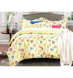 Комплект постельного белья Cleo Игрушки 3 предмета, цвет: желтый