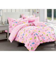 Комплект постельного белья Cleo Игрушки 3 предмета, цвет: розовый