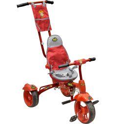 Велосипед Ника с ручкой, цвет: красный