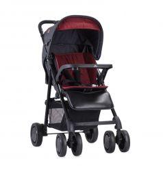 Прогулочная коляска Lorelli Aero, цвет: черный/красный
