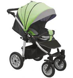 Прогулочная коляска Camarelo Eos, цвет: темно-серый/салатовый