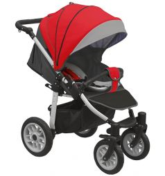 Прогулочная коляска Camarelo Eos, цвет: красный/темно-серый