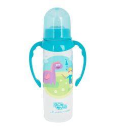 Бутылочка Пома с ручками Мечта полипропилен с 6 мес, 250 мл, цвет: голубой