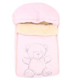 Leader Kids Конверт в коляску Мишка 70 х 48 см, цвет: розовый