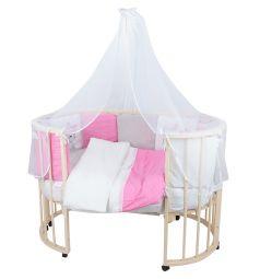 Комплект постельного белья Leader Kids Кошечка 19 предметов подушка 40 х 60 см, цвет: розовый