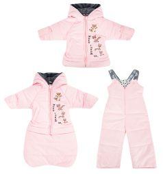 Artel Комбинезон трансформер куртка/полукомбинезон/конверт, цвет: розовый
