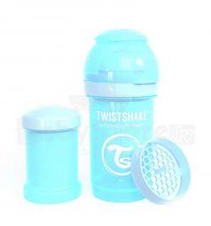 Бутылочка Twistshake для кормления полипропилен с рождения, 180 мл, цвет: синий